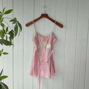 Alexia Admor pink gold striped belted cami top S